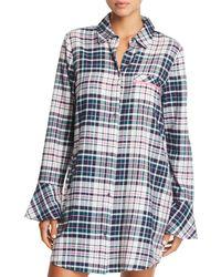 32f0cd52edfa Jane   Bleecker New York - Printed Flannel Sleepshirt - Lyst