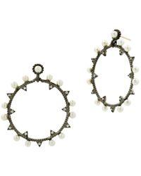 Freida Rothman Textured Hoop Earrings