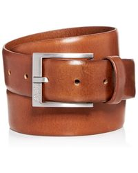BOSS - Gerron Replace Distressed Leather Belt - Lyst