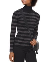 MICHAEL Michael Kors - Metallic Striped Turtleneck Sweater - Lyst