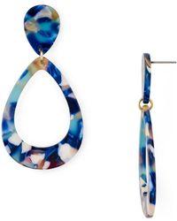 Aqua - Multicolored Lucite Teardrop Earrings - Lyst