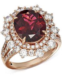 Bloomingdale's - Rhodolite Garnet & Diamond Statement Ring In 14k Rose Gold - Lyst