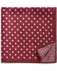Bloomingdale's - Dot/houndstooth Reversible Pocket Square - Lyst
