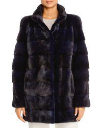 Maximilian Mink Fur Coat - Blue