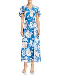 French Connection - Cari Crepe Floral-print Maxi Dress - Lyst