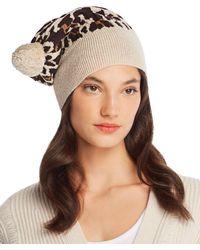 Rosie Sugden - Pom-pom Leopard Cashmere Beanie - Lyst