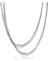 David Yurman - Four-row Chain Necklace With Pearls - Lyst