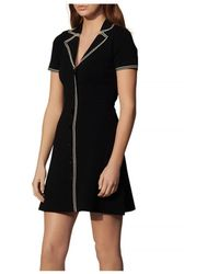 Sandro - Laureene Contrast Topstitched Dress - Lyst