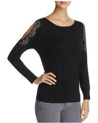 Sioni Embellished Cold Shoulder Jumper - Black