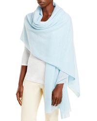 C By Bloomingdale's Cashmere Travel Wrap - Blue
