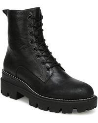 Sam Edelman Garret Combat Platform Boots - Black
