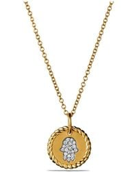 David Yurman | Cable Collectibles Hamsa Necklace In 18k Gold | Lyst