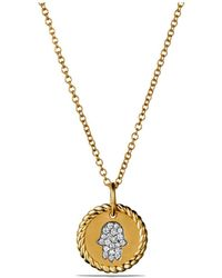 David Yurman - Cable Collectibles Hamsa Necklace In 18k Gold - Lyst