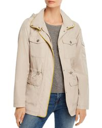 Vince Camuto Cinched Waist Raincoat - Natural