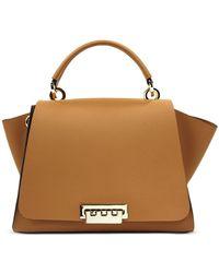 Zac Zac Posen Eartha Iconic Top Handle Convertible Leather Backpack - Brown