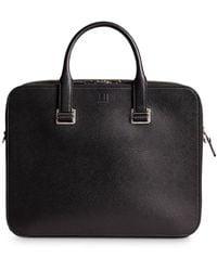Dunhill Cadogan Leather Slim Double Document Case - Black