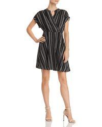 Vero Moda - Laura Striped Faux-wrap Dress - Lyst