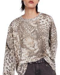 AllSaints - Pardos Animal Sweatshirt - Lyst