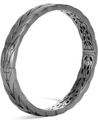 John Hardy - Sterling Silver Modern Chain Small Hinged Bangle - Lyst