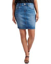 Jag Jeans Valentina Denim Pull On Skirt In Atlanta Blue