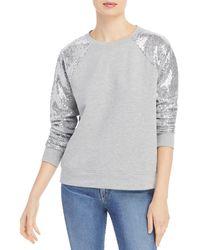 Marc New York Performance Sequined Sweatshirt - Grey