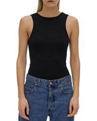 Helmut Lang Scoop Back Bodysuit - Black