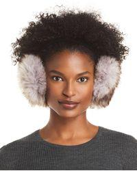 Surell Fox Faux Fur Earmuffs - Brown