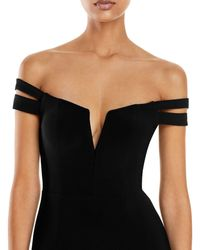 Aqua Off - The - Shoulder Gown - Black