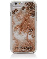 Rebecca Minkoff - Liquid Glitter Peace Sign Iphone 7 Case - Lyst