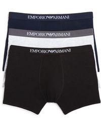 Emporio Armani - Pure Cotton Boxer Briefs - Pack Of 3 - Lyst