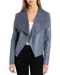 Bagatelle - Draped Faux Leather Jacket - Lyst
