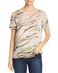 Elie Tahari Keva Printed Shirt - Natural