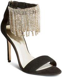 412460b817fe1d Karen Millen - Women s Embellished Fringe High-heel Sandals - Lyst