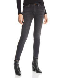Aqua - Leopard Track Stripe Skinny Jeans In Black/leopard - Lyst