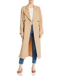 Cupcakes And Cashmere Melody Belted Trench Coat - Natural