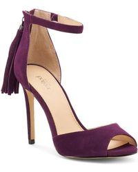 Botkier Women's Anna Suede Ankle Strap High - Heel Sandals - Purple
