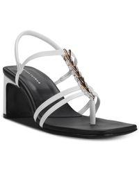 Dorateymur Women's Narcissist Thong Sandals - White