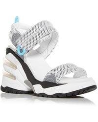 Ash Cosmos Wedge Platform Trainer Sandals - White