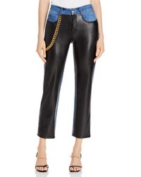 Hellessy Melling Faux - Leather Jeans - Black