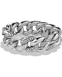 David Yurman - Belmont Bracelet With Diamonds - Lyst