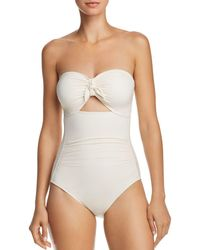 Carmen Marc Valvo Bandeau One Piece Swimsuit - White