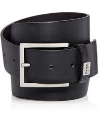 BOSS - Men's Sonio 4.0 Leather Belt - Lyst