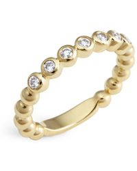 Lagos - 18k Gold Beaded And Diamond Ring - Lyst