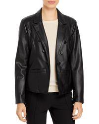 T Tahari Faux Leather Jacket - Black