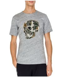 The Kooples - Camo Skull Embroidered Tee - Lyst