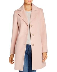 Calvin Klein - Single - Breasted Button Front Coat - Lyst