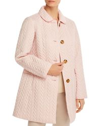 Kate Spade Chevron Quilted Jacket - Pink