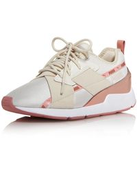 PUMA Women's Muse X - 2 Metallic Lace - Up Sneakers - White