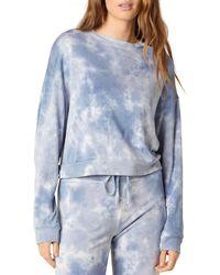 Beyond Yoga Tie Dyed Sweatshirt - Blue