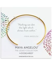 Dogeared Maya Angelou Nothing Can Dim The Light Cuff Bracelet In 14k Gold-plated Sterling Silver Or Sterling Silver - Metallic